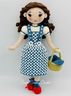 Basic Crochet Stitches, Crochet Basics, Minion Crochet Patterns, Wizard Of Oz Dolls, Fairy Dolls, Amigurumi Doll, Crochet Dolls, Pdf, White Parties