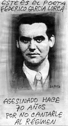 Poeta Federico García Lorca. Caricatura de Zapata en la página de Opinión. Caracas, 27-08-2006 (PEDRO LEON ZAPATA / EL NACIONAL).