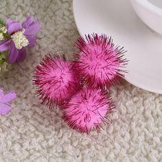 100pcs/lot 1~3cm Glitter Multicolour DIY Decoration Ball Fur Ball Pompon Home Decor Decorative Flowers Crafts 8zza269 #Affiliate