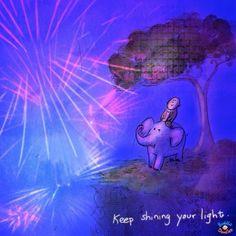 Buddha Doodles – Keep shining your light.