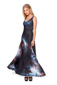 ** Galaxy Black Maxi Dress by Black Milk - M