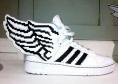 ADIDAS ORIGINALS BY JEREMY SCOTT JS WINGS 2.0 PIXELS #sneaker