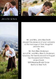 Picture wedding invite with customizable colors.  #photo #invitation