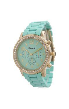 Geneva Women's Petite Colorful Boyfriend Watch...... prettiest watch ever!