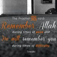 remember Allah. Allahuakbar! :')