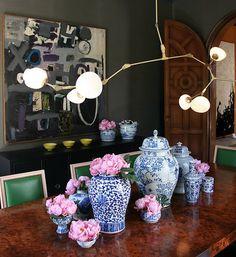 vasos, flores, luminaria..