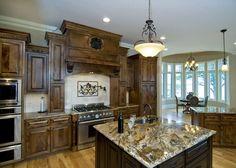 Love the decorative cabinet molding!