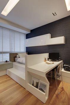 Minimalist, Modern Design - Bedroom - Condominium - Design by Cactus Art Design & Furnishing Pte Ltd Condo Bedroom, Room Design Bedroom, Modern Bedroom Design, Home Room Design, Small Room Bedroom, Home Decor Bedroom, Design Kitchen, Bedroom Designs, Master Bedroom