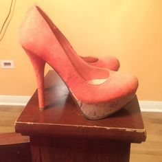 Coral pumps ! Brand new never worn Shoes Heels