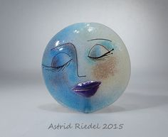 Art on Glass series-  lampwork focal bead- 43mm- By Astrid Riedel by AstridRiedel on Etsy
