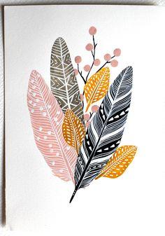 Pittura acquerello natura arte stampa archivio di RiverLuna