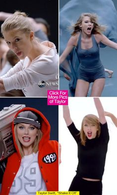 Taylor Swift Outfits In 'Shake It Off' Video. Good 2014 costume idea.