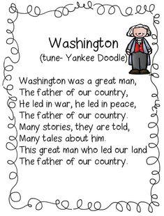 First Grade Wow-Washington Poem