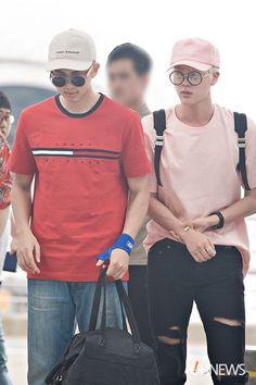 Jin Hường Joon đỏ ❤ #NamJin #BTSAirpot