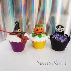 Halloween | Sweets Nessa | Elo7 - Modelagem em fondant o divertido tema Halloween deixa esse cupcake ainda mais bonito além de delicioso!