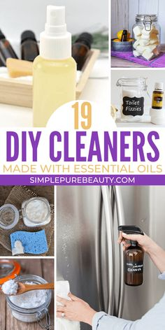 Don't miss out on these DIY cleaners with essential oils! You'll be able to clean your entire house naturally from top to bottom. Green Cleaning Recipes, Natural Cleaning Recipes, Natural Cleaning Products, Diy Cleaners, Everyday Items, Pure Beauty, Essential Oils, Essentials, Homemade