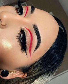 Dope Makeup, Edgy Makeup, Makeup Eye Looks, Eye Makeup Art, Flawless Makeup, Pretty Makeup, Skin Makeup, 80s Makeup, Witch Makeup