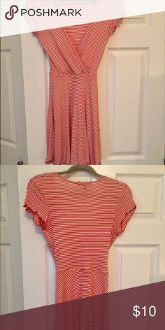 Derek Heart Size Medium Orange/White Striped Dress Derek Heart Size Medium Orange/White Striped Dress never been worn! Derek Heart Dresses