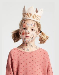 Spread the girl power message with your babes with this adorable pink and mustard feminism crown. Arte Game Of Thrones, Foto Instagram, Fashion Painting, Little People, Kids Wear, Children Photography, Cute Kids, Pink And Gold, Feminism