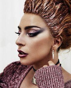#ladygaga #beauty #makeup #hair #fashion #styling #metallic