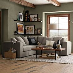 Comfortable Sectional Sofa for Your Living Room - Page 11 of 48 - Farhah Decor Living Room Green, Brown Couch Living Room, Living Room Paint, Living Room Diy, Trendy Living Rooms, Living Room Grey, Living Decor, Cozy Living Rooms, Comfortable Sectional Sofa