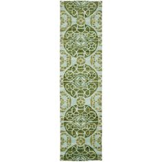 Wyndham Turquoise/Green 2 ft. 3 in. x 9 ft. Runner