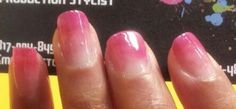 One of the manicures I did today for the Exchange nail art video shoot.  Pink ombre