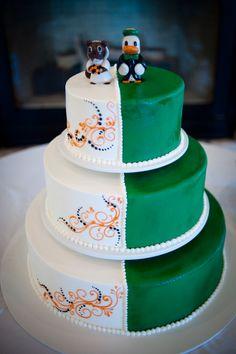 Oregon State Beaver bride & Oregon Duck groom - we take our Civil War seriously.