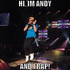Andy Mineo is feeling fabulous.
