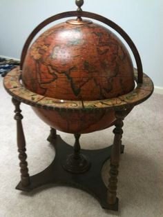 World Globe that Opens to a Refreshment Bar Inside - $250 (Grayson/Loganville)
