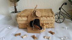 Needle Felt Keyring .. Handmade .. Manchester Terrier ..