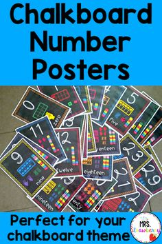 Use these Chalkboard Number Posters to help your primary students master their numbers. Each poster includes the digit, word and the number representation in ten frames, finger counting, tallies, and unifix cubes. Numbers 1-6 are also shown through dice. Two print options available. Great for preschool, Kindergarten, 1st, 2nd, 3rd, and 4th grade classroom or homeschool students. {elementary, math, digits, preK, K, first, second, third, fourth graders}