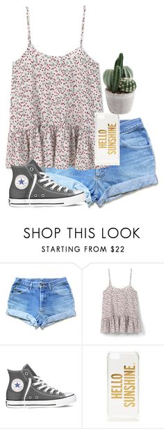 """""""Untitled #250"""" by dianaheart on Polyvore featuring MANGO, Converse and Kate Spade"""