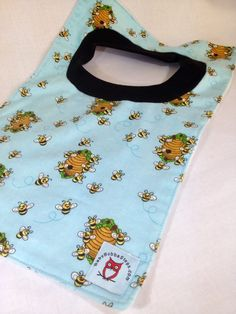 Bumblebees on Blue Background Pop Over Bib by BabyBubbaSteps