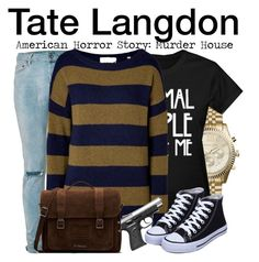 """""""Tate Langdon - American Horror Story: Murder House"""" by nerd-ville ❤ liked on Polyvore featuring Michael Kors, Topman, A.L.C., Dr. Martens, men's fashion and menswear"""