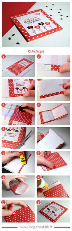 Sachet de graines d'amour - Idée cadeau pour la Saint-Valentin - Gabarit à télécharger sur le blog -