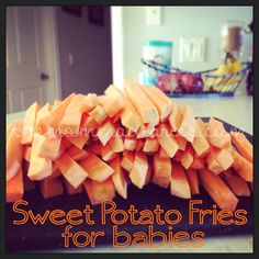 Baby led weaning is a wonderful way to introduce babies to food. They'll gobble up this easy Sweet Potato Fries Baby Led Weaning Recipe!