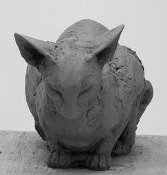 Louise Peterson - Listen, terracotta, unique