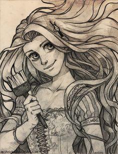 Rapunzel - I am an artist, Do you? by Shricka on deviantART