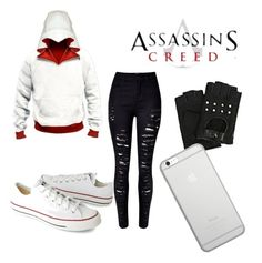 """""""Assassins creed⚔️"""" by prettylittlelizzy on Polyvore featuring WithChic, Converse, Karl Lagerfeld and Native Union"""