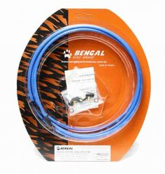 BENGAL Discscheiben Bremsleitung - Hydraulisch für Shimano blau.