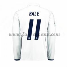 Camisetas De Futbol Real Madrid Bale 11 Primera Equipación Manga Larga 2016- 17 36be55c43f8a9