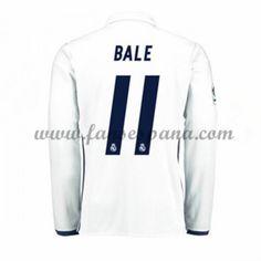 Camisetas De Futbol Real Madrid Bale 11 Primera Equipación Manga Larga 2016-17