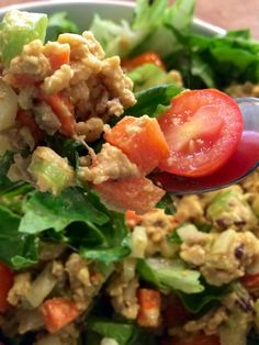 The BEST Vegan Tempeh Salad... Nom nom nom!
