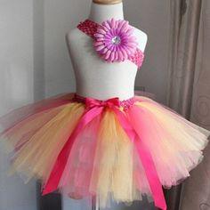 Tutu skirt Girls ballet skirt Infant rainbow tutu For dance performance