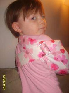 sling for Eloise's arm