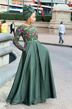 Army green african print dress ankara dress by EssieAfricanPrint Remilekun - African Styles for Ladies African Inspired Fashion, African Print Fashion, Africa Fashion, Fashion Prints, African Print Dresses, African Fashion Dresses, African Dress, Ghanaian Fashion, African Prints