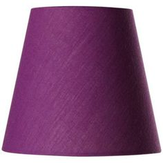 Cotton Blend Purple Lamp Shade 3.5x5.5x5 (Clip On)   #