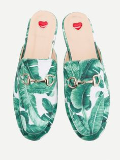 3027e5a85c7 SHEIN offers Tropical Pattern Loafer Mules   more to fit your fashionable  needs.