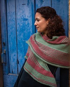 Hazardous Stripes is a crescent shawl combining stockinette, garter stitch and short-rows. Crescent Shawl, Stockinette, Garter Stitch, Main Colors, Ravelry, The Row, Creations, Sari, Stripes